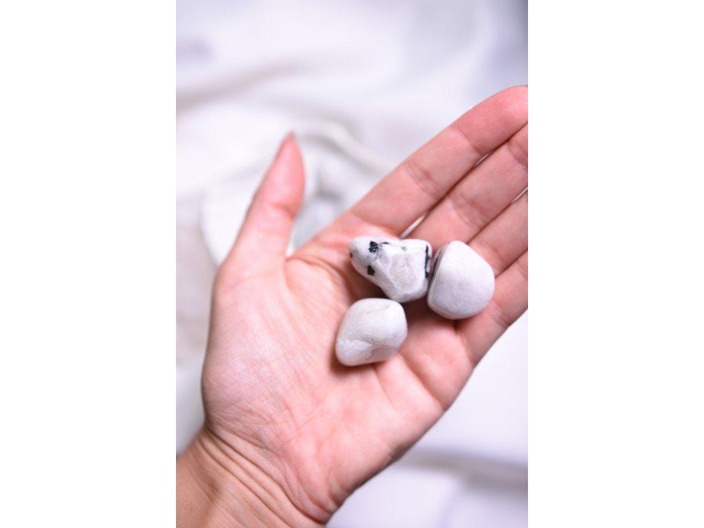 Bílý měsíční kámen L (těhotenství, vnitřní žena, ženské orgány, duchovno)