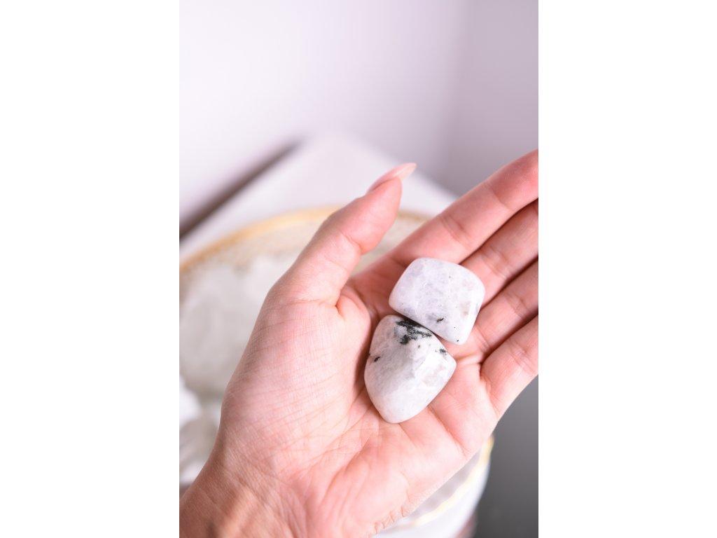 Bílý měsíční kámen XL (těhotenství, vnitřní žena, ženské orgány, duchovno)