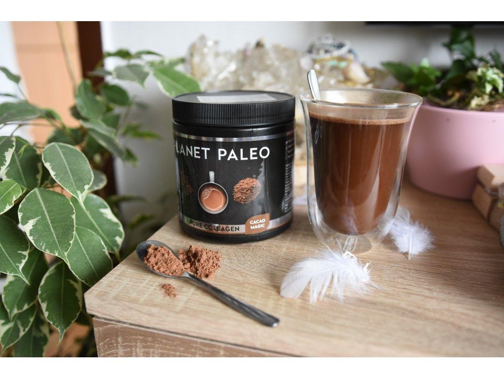 Planet Paleo Cacao Magic kolagenová horká čokoláda (kvalita pokožky, nehtů, vlasů) RANNÍ RITUÁL