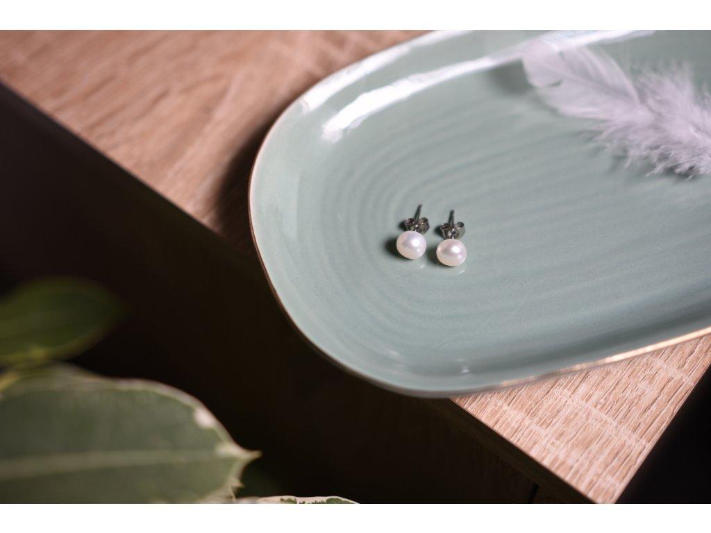 Náušnice pravé bílé perly (nové začátky, moudrost, půvab)
