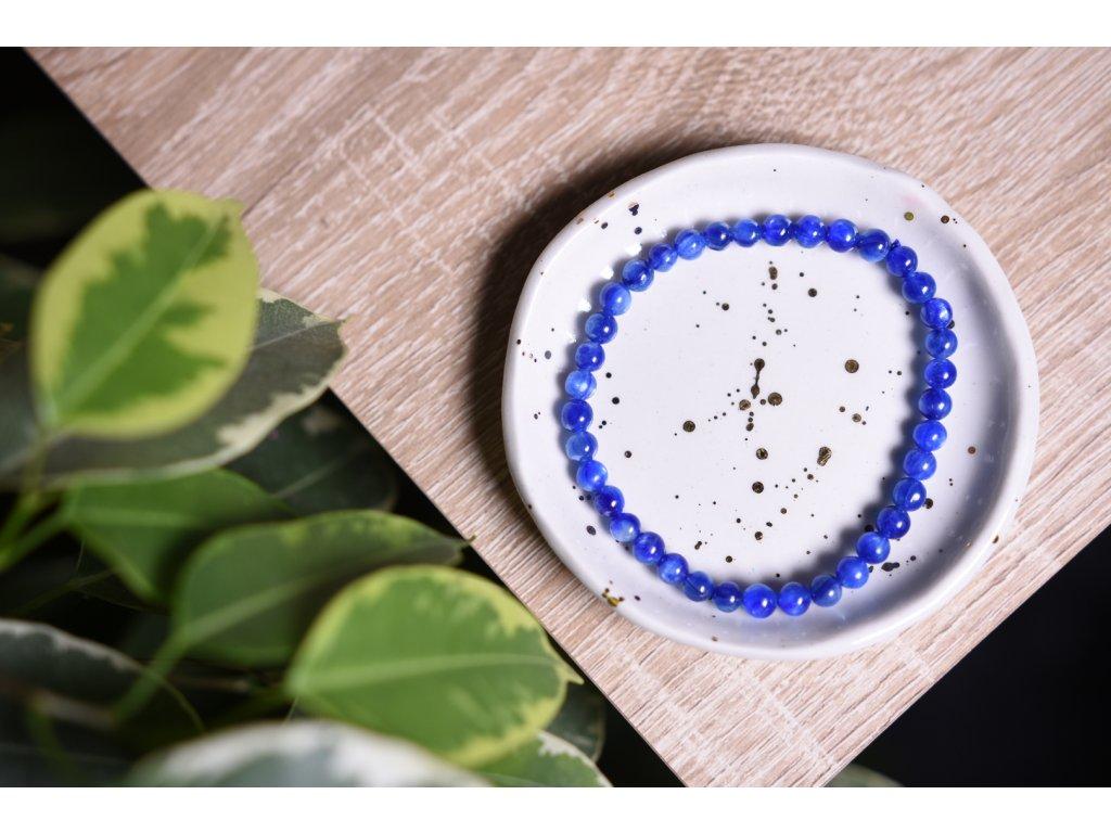 Pravý přírodní kyanit AAA extra kvalita  6 mm (umění, ochrana, inspirace, průvodce umělců, duchovní podpora)