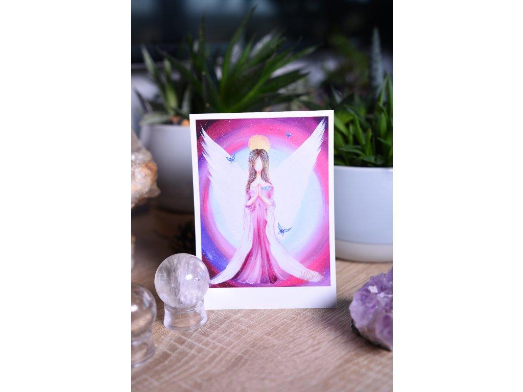 Přáníčko nebo kartička Motýlí andělka lehkost a radost ze života