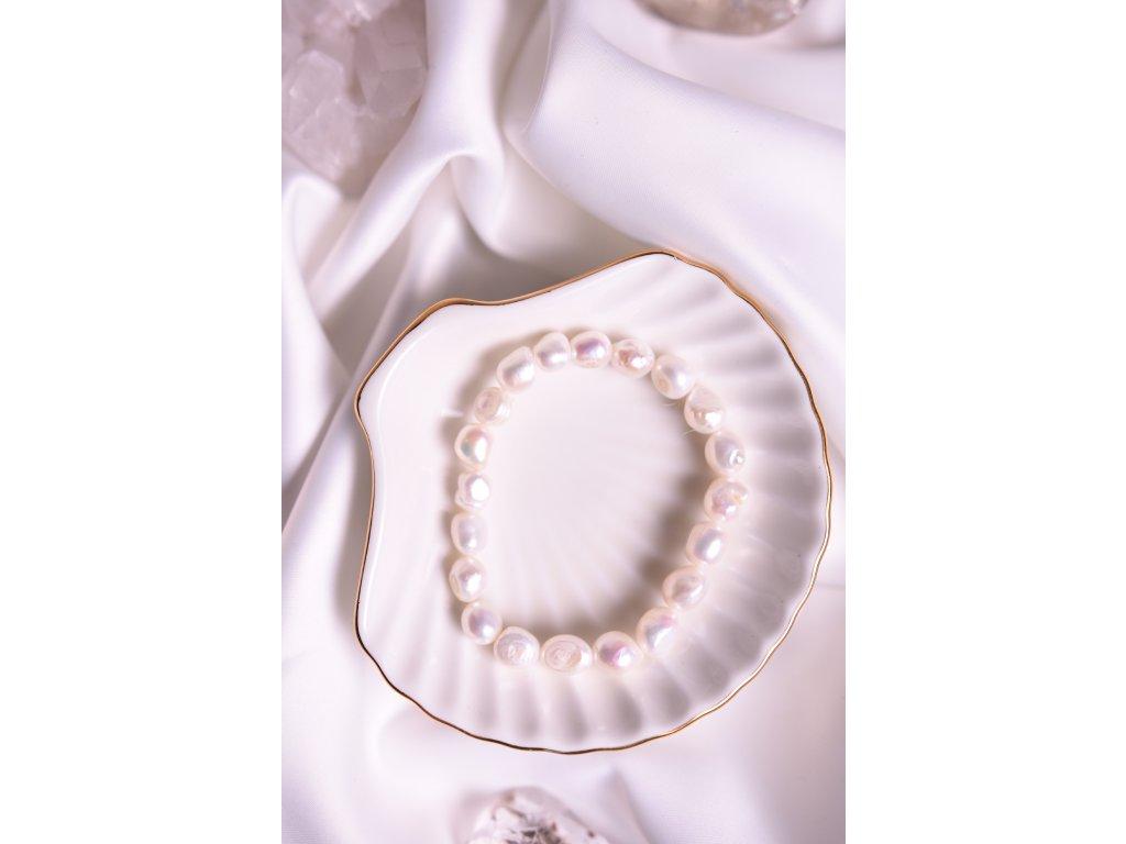 Přírodní říční perly bílé velké (nové začátky, moudrost, půvab)