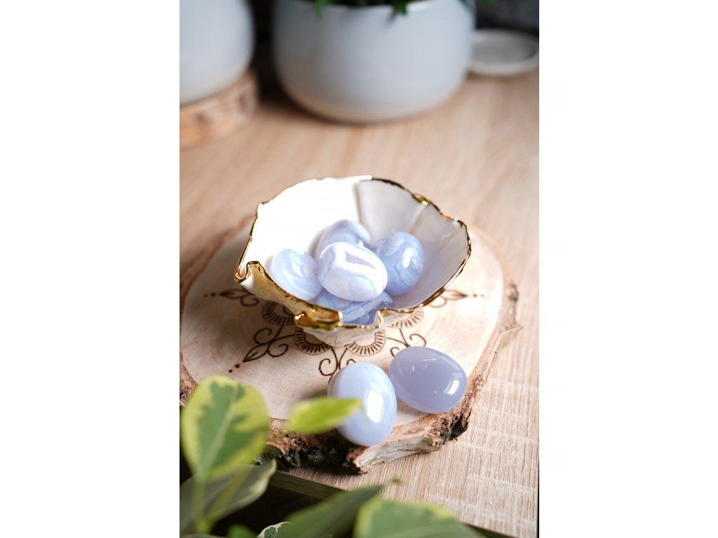 Modrý chalcedon XL (proti depresím, očistný) krásná jemná barva