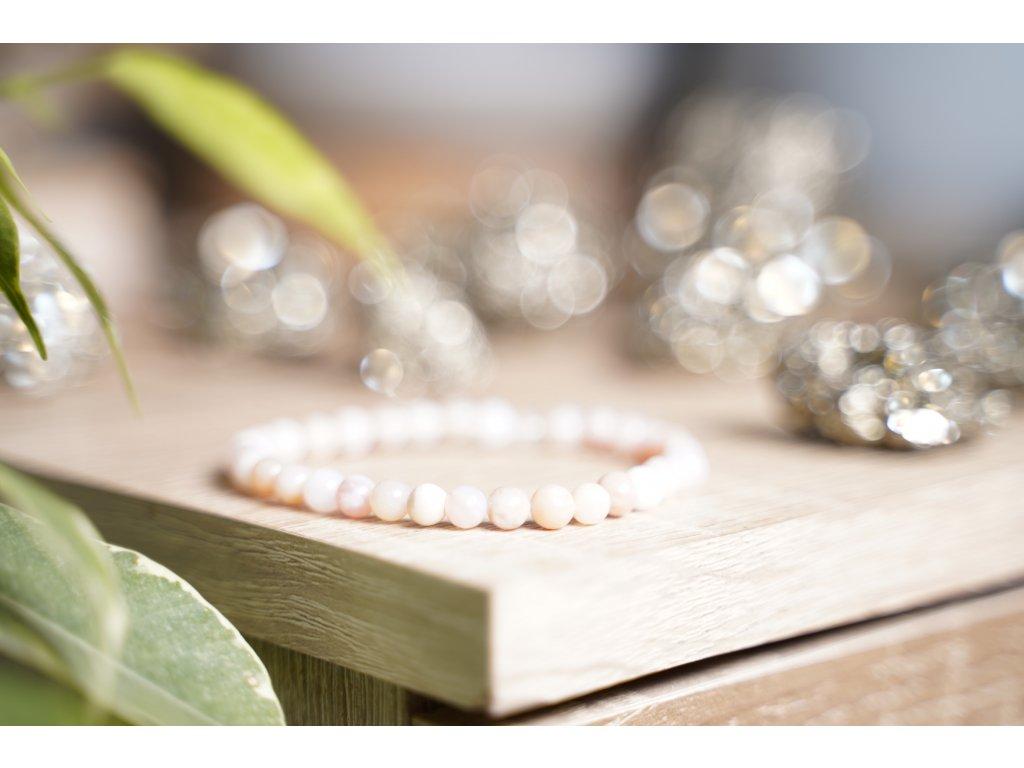 Andský opál 4mm náramek (kámen lásky, sebelásky, sebepřijetí, ženství)