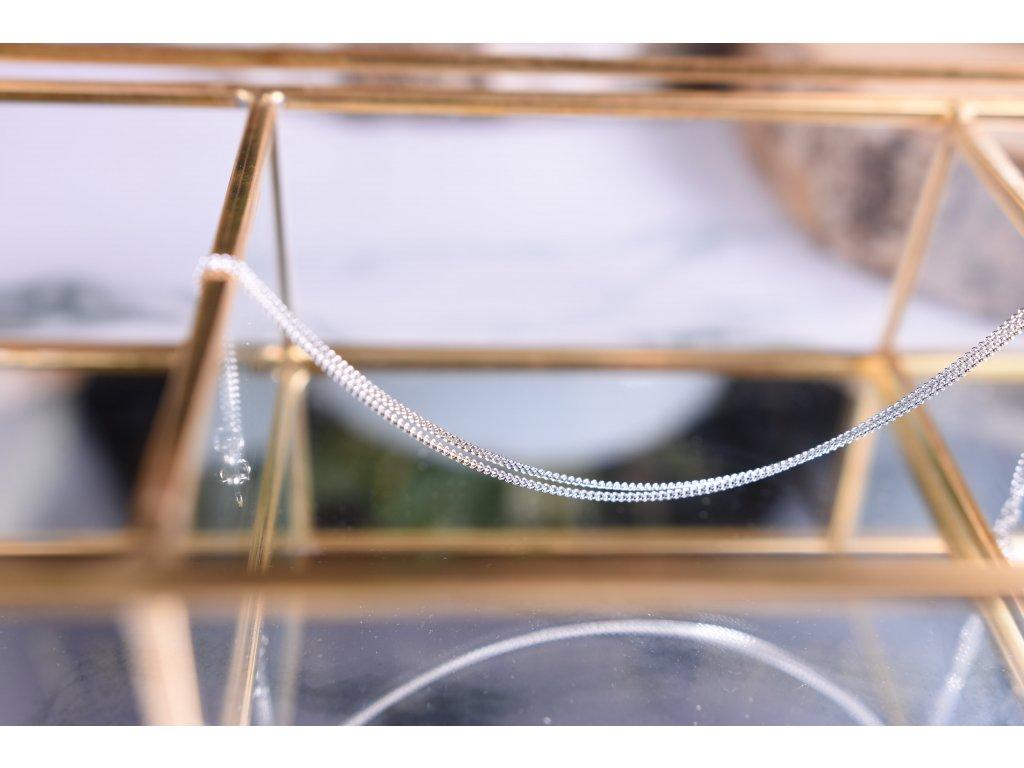 Jemný stříbrný řetízek 42 cm
