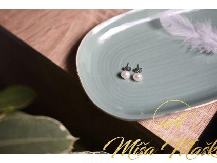 Náušnice pravé bílé perly (vnitřní žena, půvab)