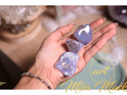 Modrý chalcedon Malawi XXL (proti depresím, očistný) krásná barva