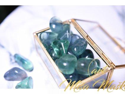 Modrozelený fluorit troml (duchovno, paměť, ochrana) velikost M