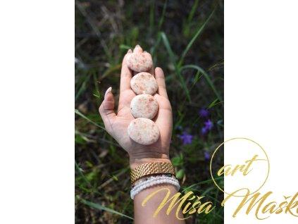 Sluneční kámen placka (pozitivní myšlení, energie, radost do života) amulet