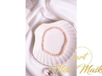Přírodní broušené perly, fialkové 5mm