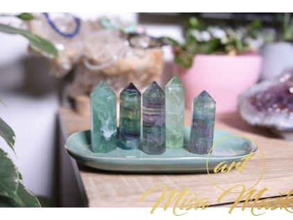 Fluorit obelisk zelený XL (jedinečný, vybroušený AA kvalita, ochrana, duchovní růst, neg.myšlenky)