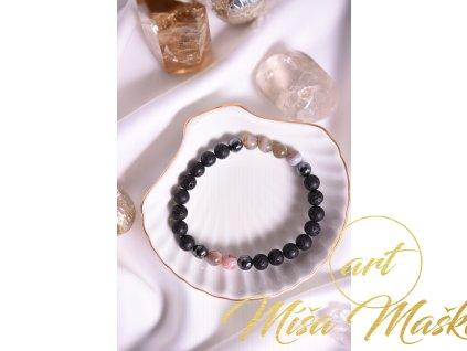 Lávový kámen, hematit, achát (uzemnění, ochrana, síla, stres)