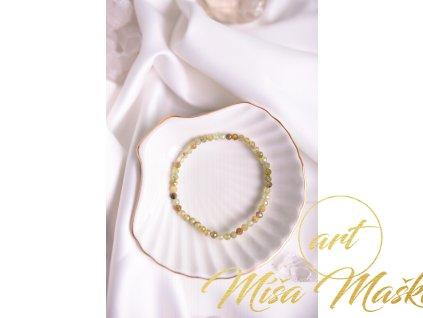 Zelený granát broušený 4mm (řešení sporů, plnění snů, posílení srdce, ledvin, odpočinek, posílení psychiky) AA kvalita