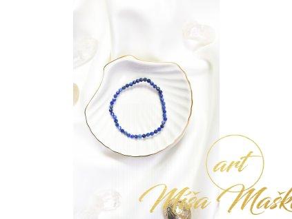 Lapis lazuli 4-5mm fazetovaný náramek (duchovno, kámen mudrců)
