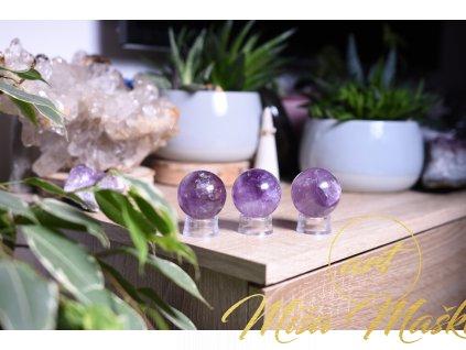 Ametystová koule AAA kvalita (duchovno, meditace, ochrana) XL