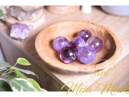 Ametystová koule AAA kvalita (duchovno, meditace, ochrana) L