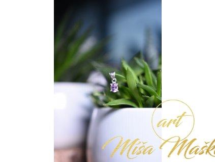 Přívěsek ametyst ve stříbře AA kvalita broušený (ochrana, meditace, duchovno, intuice, čištění)
