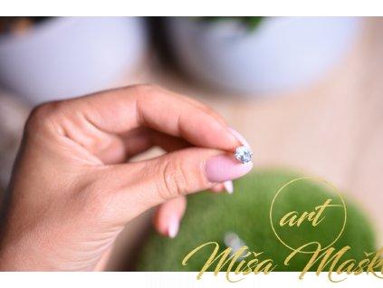 Náušnice modrý topaz broušený ve stříbře AA kvalita (komunikace, meditace, spojení s anděly)