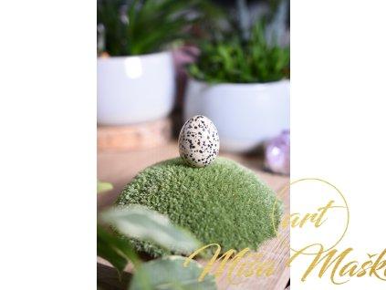Energetické vajíčko jaspis dalmatin (utišení stresu, klid, pohoda)