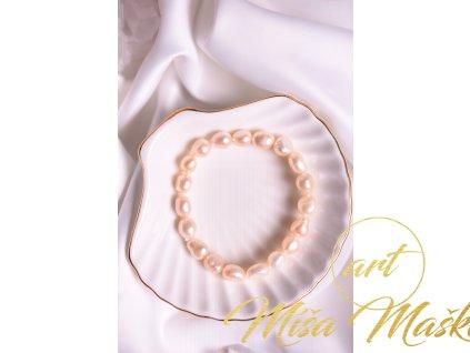 Přírodní říční perly meruňkové (velké)