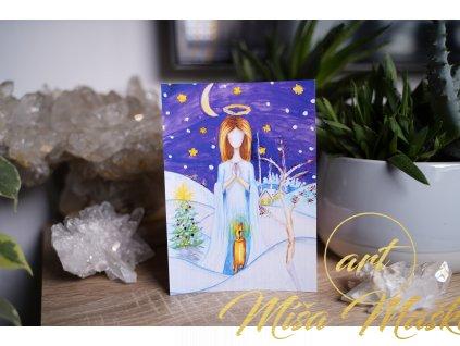 """Vánoční pohlednice """"Vánoční světlo"""""""