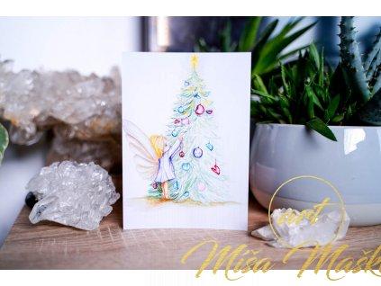 """Vánoční pohlednice """"Vánoční pohlazení"""""""