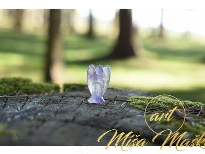 Fluoritový anděl 4cm (duchovno, paměť, ochrana)