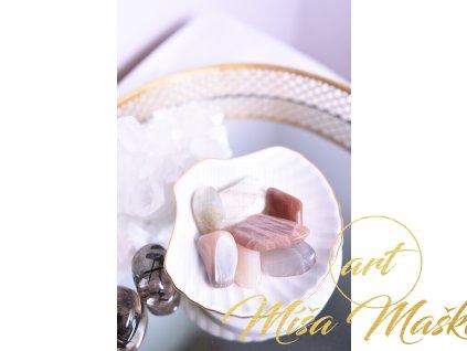 Mix měsíčních kamenů tromlíků (hnědé, oranžové s odlesky)