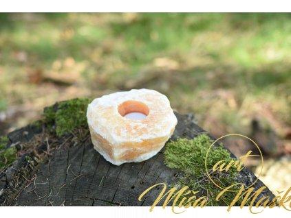 Svícen medový kalcit (radost, štěstí, hojnost)