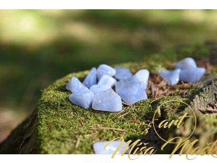 Modrý chalcedon Malawi (proti depresím, očistný) 3 kusy v sadě