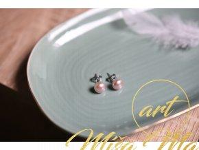 Náušnice pravé fialkové perly (vnitřní žena, půvab, transformace)