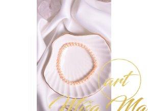 Přírodní broušené perly, meruňka 4mm
