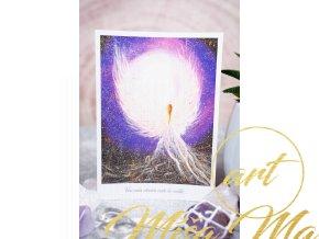 """Pohlednice """"Anděl ve světle"""""""
