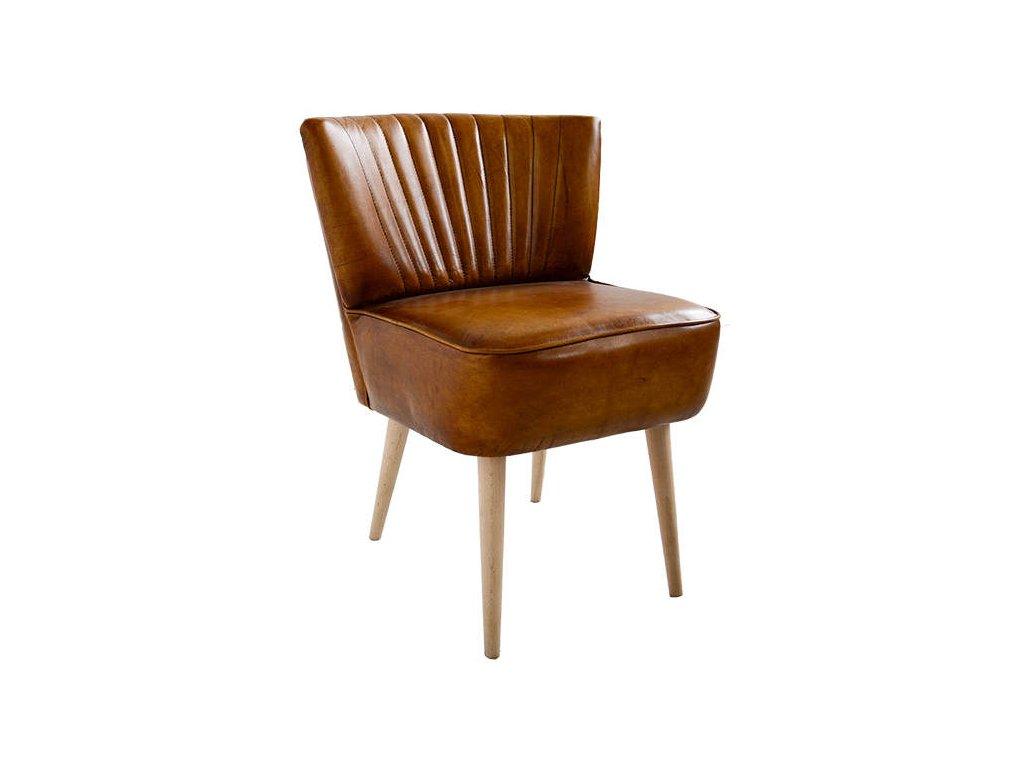 Kožená židle DT46