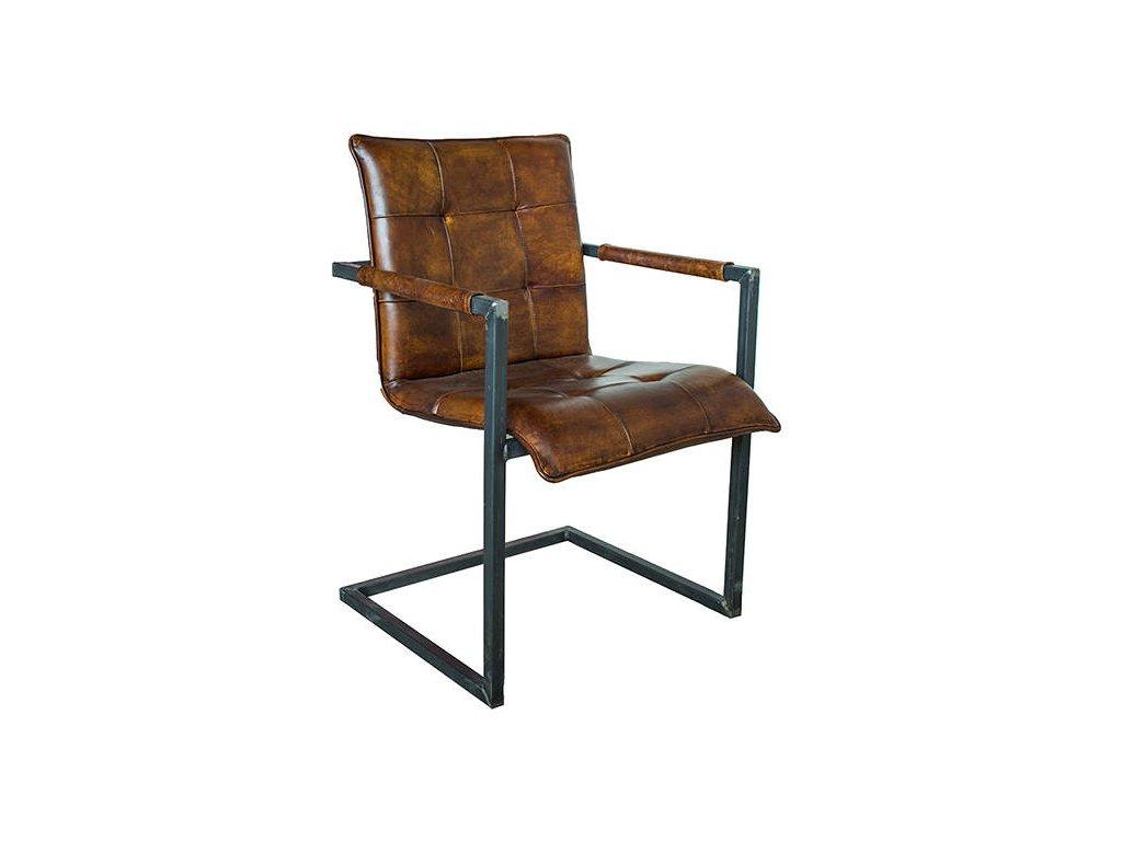 Kožená židle DT55
