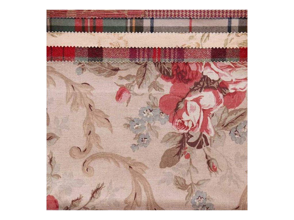 Dekorativní látka Ralph Lauren Cottage Rose Floral - tea Rose