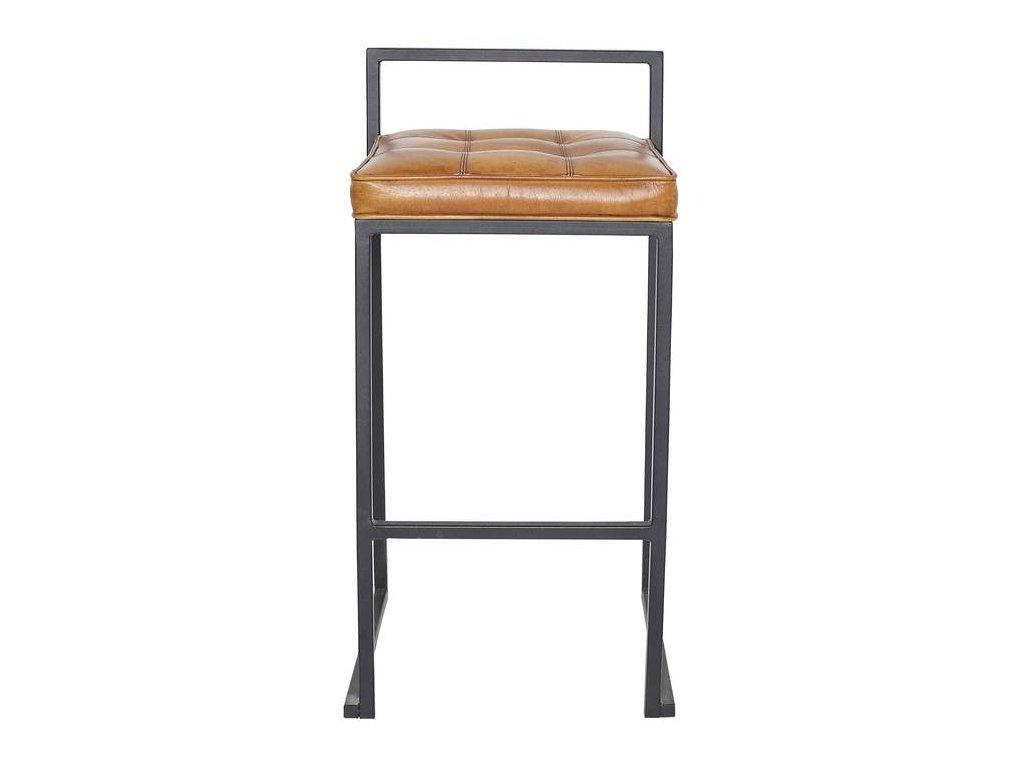 Barová židle DT43 v kůži