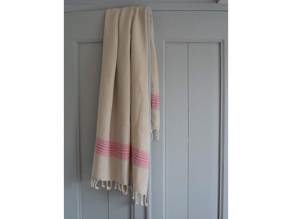 Ottomania linen hamam towel fuchsia 2330 1
