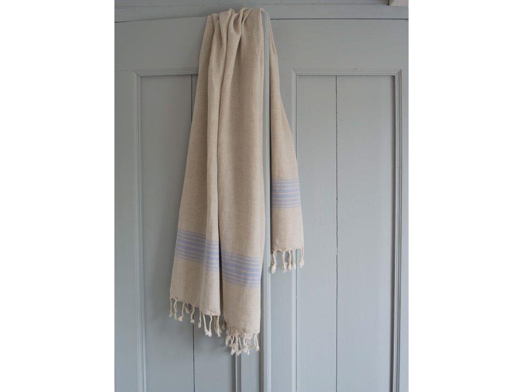 Ottomania linen hamam towel lavender blue 2339 1