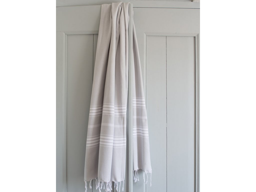 Ottomania hammam towel Large light grey 1847