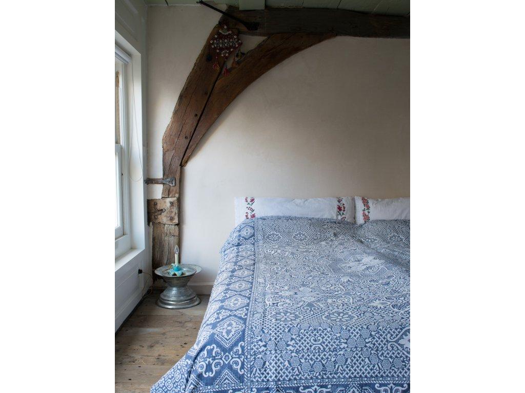 Ottomania floral bedspread Mozaik navy blue 4302 1
