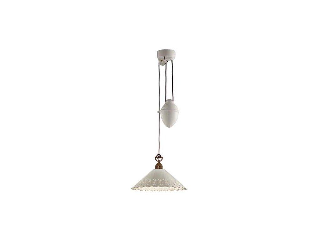 Il Fanale  Fiori Di Pizzo 065.11.OC , závěsné svítidlo s  keramickým závažím