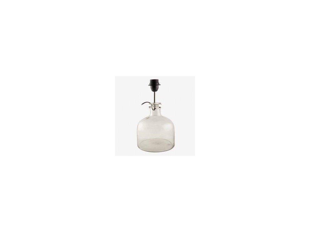 Skleněná stolní lampa BAŇKA MALÁ