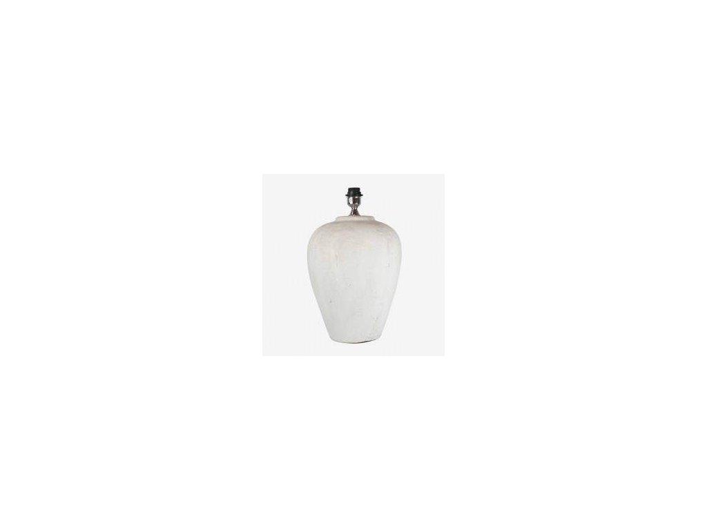 Stolní lampa - kameninová velká bílá