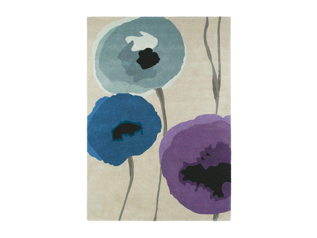 Poppies Indigo/Purple