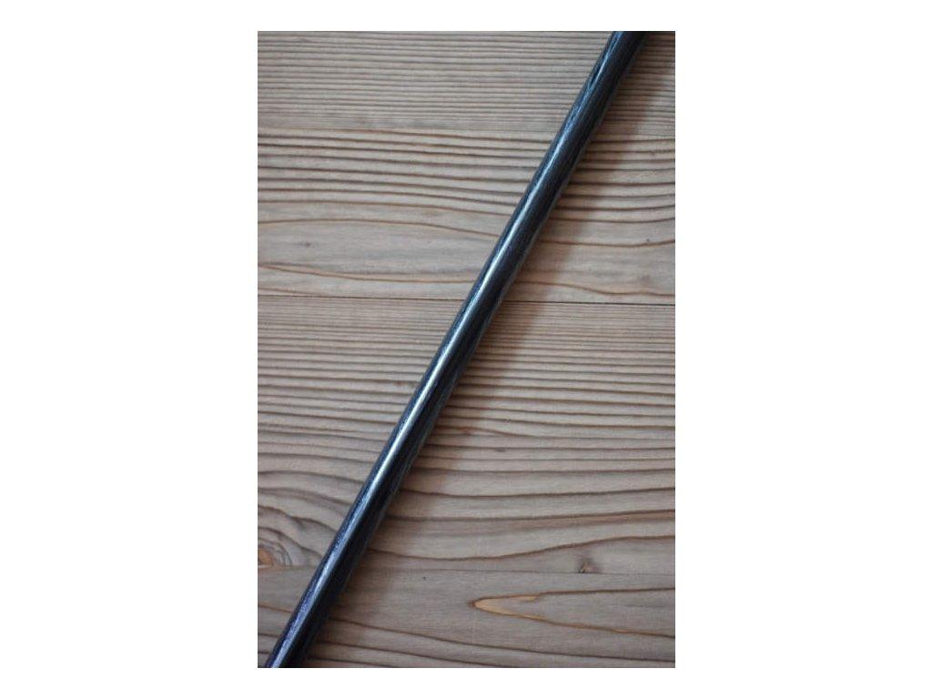 Kovová záclonová tyč délka 150cm - černá