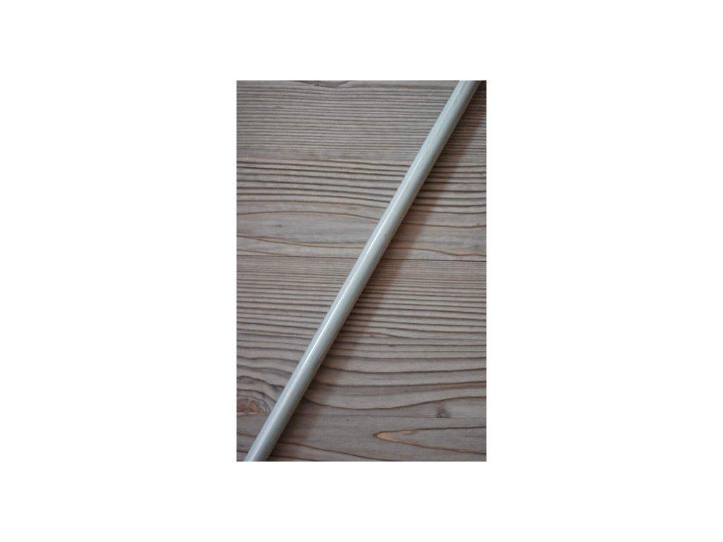 Kovová záclonová tyč délka 250 cm - bílá