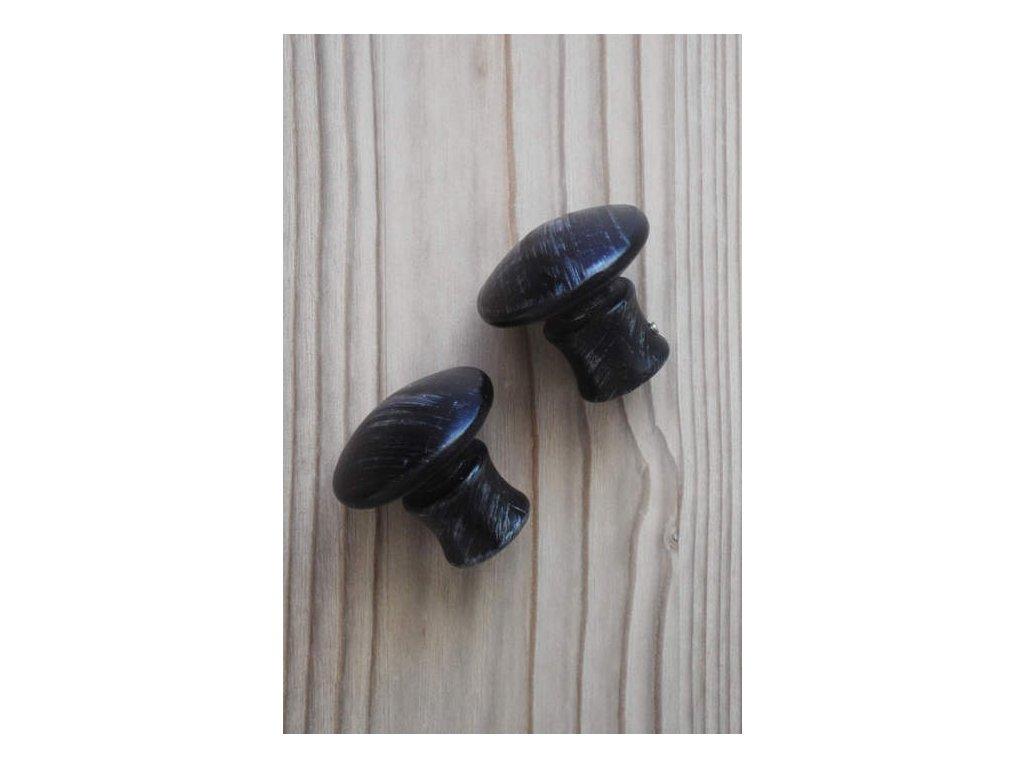Kovová koncovka - zátka černá