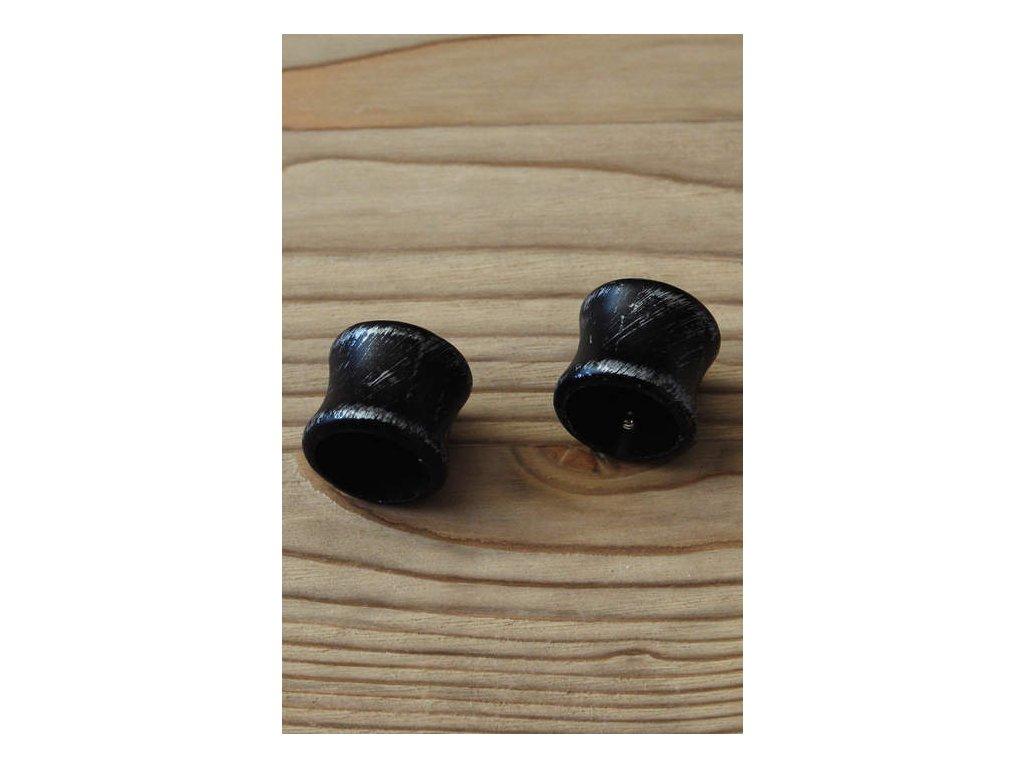 Kovová koncovka k tyčím malá  - černá